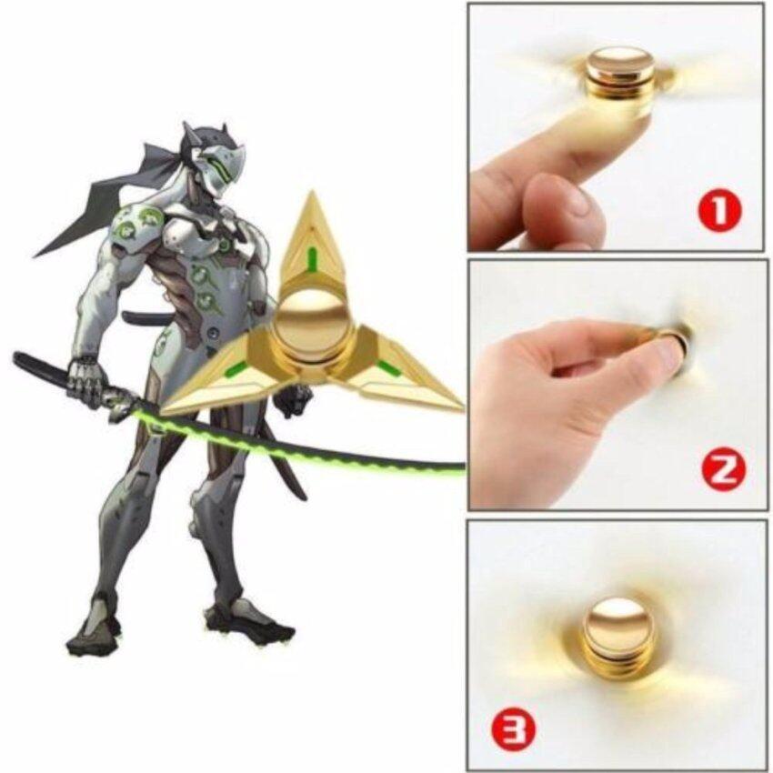 Fidget Spinner Triangle Metal Genji Shuriken Ninja Toys ...