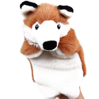 Fox Hand Puppet Baby Doll Plush Toy (Brown)