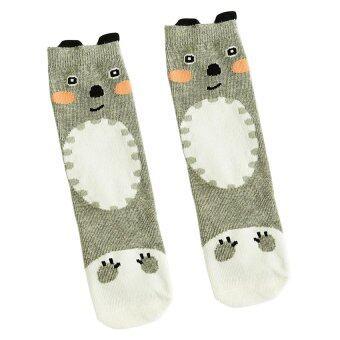 GDS Baby Kids Girls Animal High Socks Knee Tights Hosierystockings Grey Bears - intl