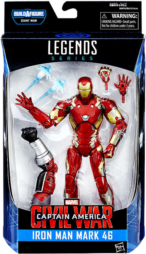 Hasbro Marvel Legends Civil War Giantman Series : Ironman Mark 46