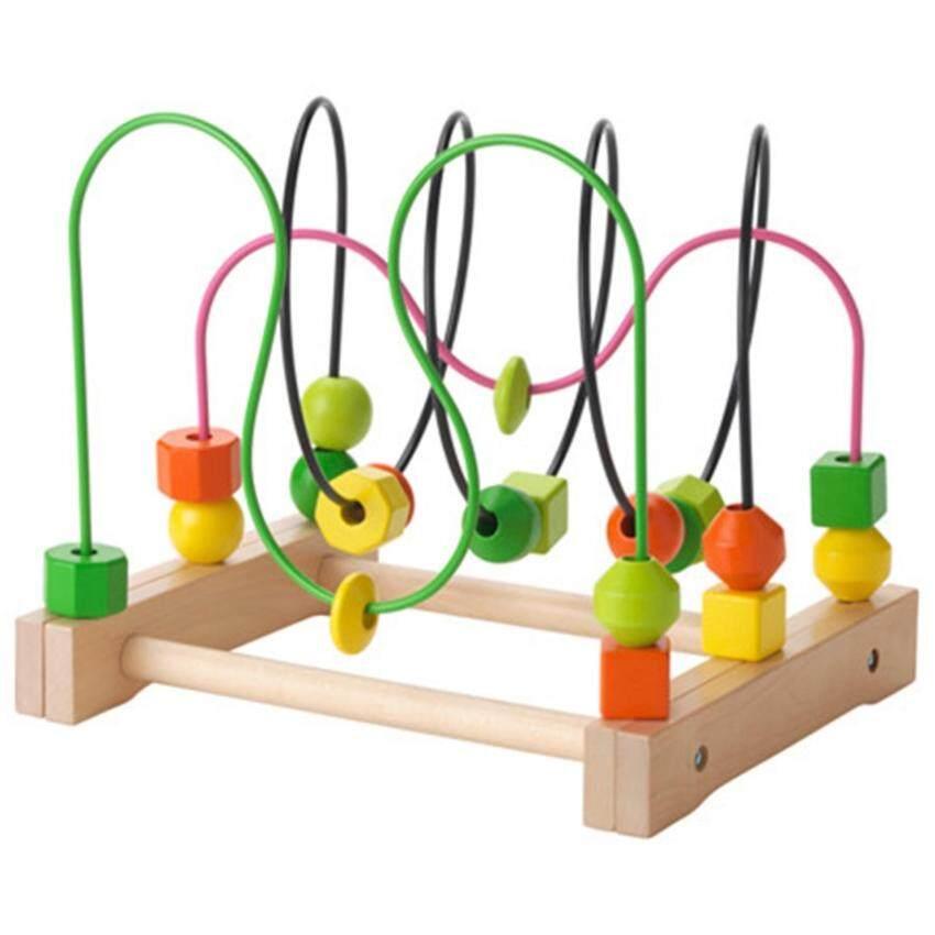ของเล่นขดลวดไม้ รุ่นมูล่า สีหลากสี IKEA เหมาะสำหรับเด็ก 18 เดือนขึ้นไป