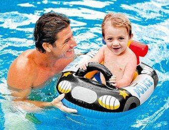 INTEX ห่วงยางว่ายน้ำเด็กเล็กรูปรถตำรวจ แบบสอดขา intex 59586