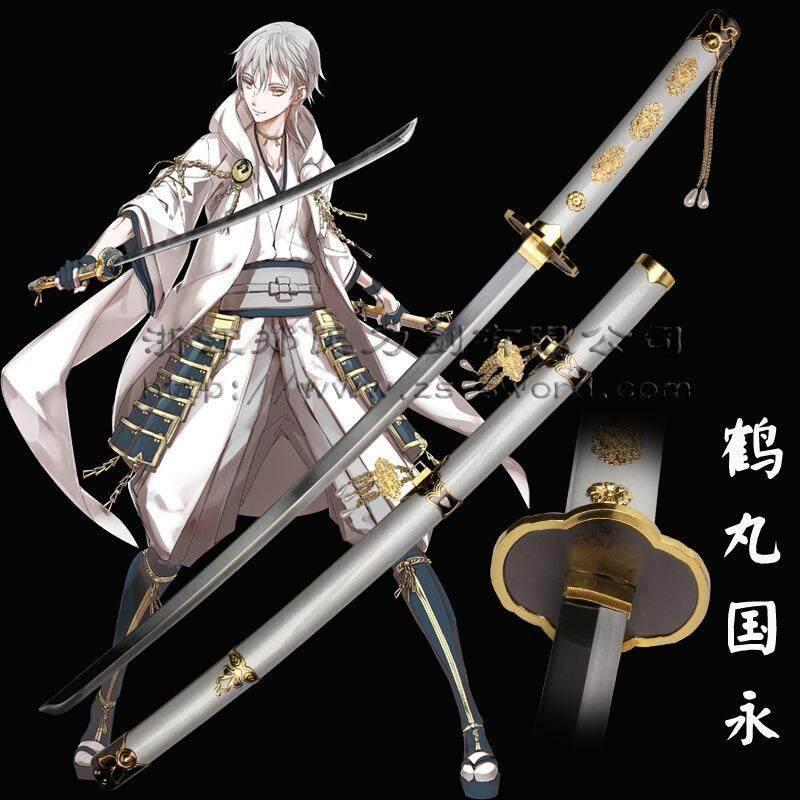 JAPAN ดาบคาตานะ Tsurumaru Kuninaga Sword + แท่นวาง(Touken Ranbu) ...