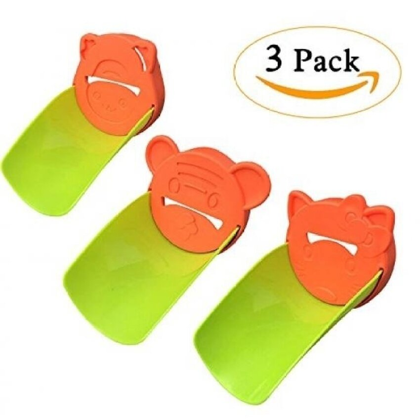 JINSEY Faucet Extender Sink Handle Extender - Pack of 3 Hand Washing Tap Extender for Babies, Toddlers, Kids and Children - Bathroom Accessory to Teach Children Safe Hand-washing Habits - Orange - intl