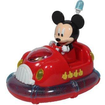 KEAK TOY ของเล่น รถ รถบั๊มมิกกี้เม้าส์ มีเสียงไฟ วิ่งชนถอย MK2711