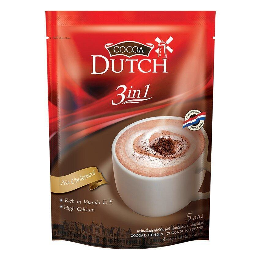 ขายยกลัง! Cocoa Dutch 3in1 Pack 125 g. (24 Pack)