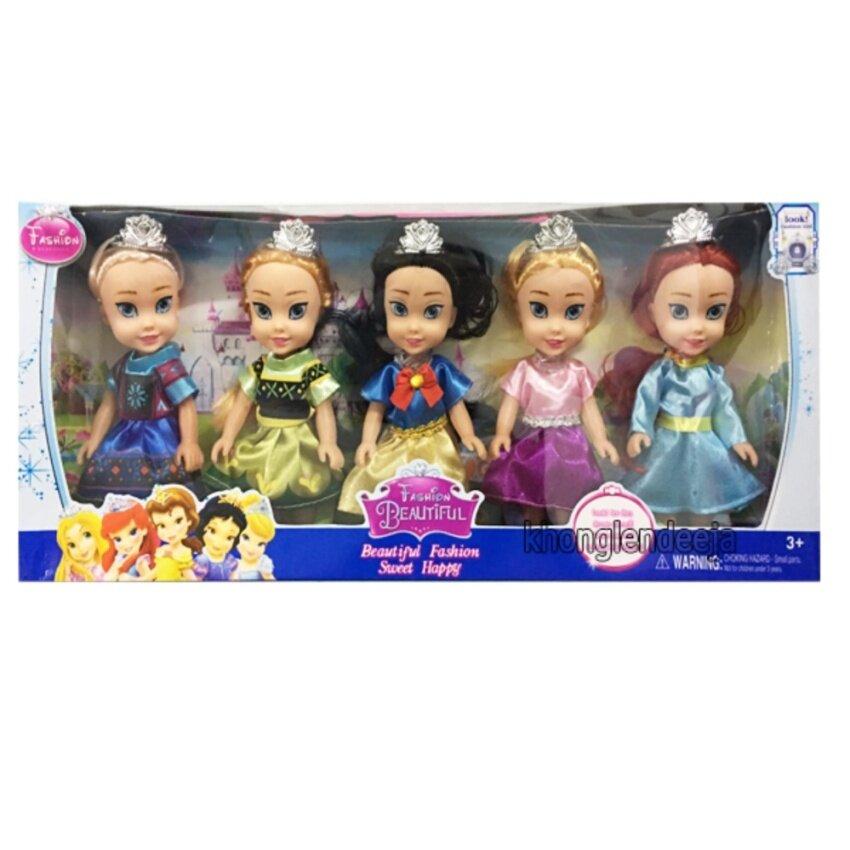 Khonglendee ตุ๊กตาชุดรวมเจ้าหญิง 5 แบบ สูง 6.5 นิ้ว