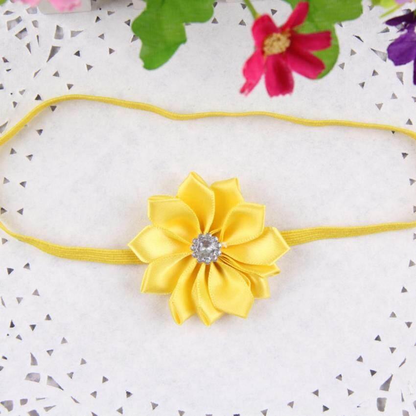 Kids Baby Girl Toddler Rose Flower Headband Band Hairband Soft Elastic Hair Band Headwea ...