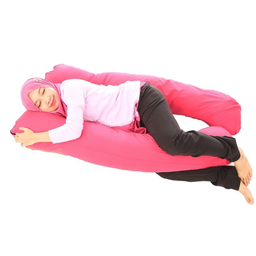 LeCOMFY Collection U Shape Pregnancy Pillow (Pink) - intl ...