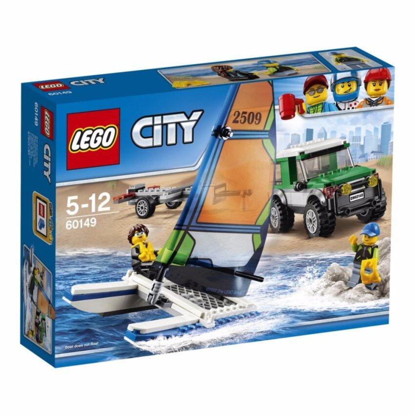 LEGO ตัวต่อเสริมทักษะ เลโก้ซิตี้ เกรท เวฮิเคิลส์4x4 วิท แคททามาแรน 4x4 with Catamaran - 60149