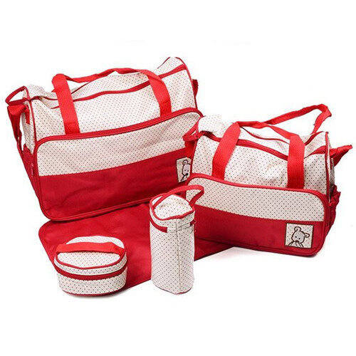 LOTUS 5 in 1 Dad Essential Diaper Bag- Red - Intl