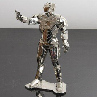 MARVEL IRON MAN silvery The Avengers 3D Metal model NANO puzzles new styles Chinses Metal Earth 3 Sheets DIY Creative gifts - intl