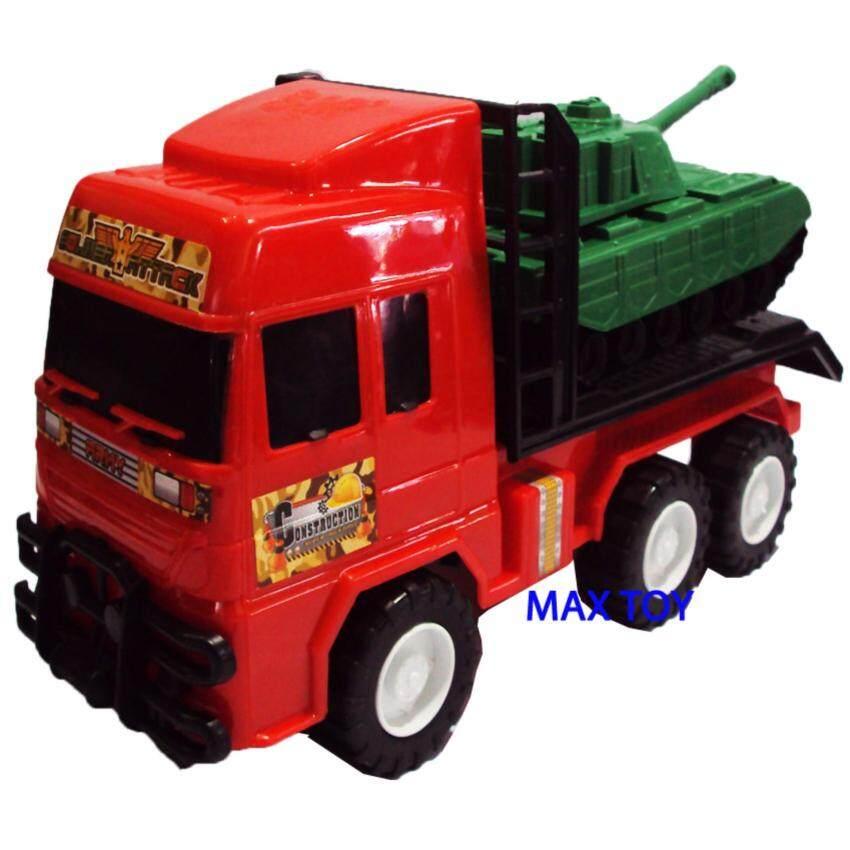 MAX TOY ของเล่น รถบรรทุกรถถัง 99J999-R(สีแดง) ...