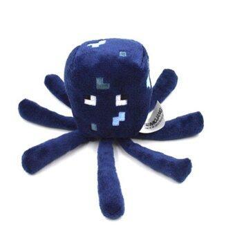 Minecraft Seaworld เล่นตุ๊กตาสัตว์นุ่มผ้าพลัฌปลาหมึก Jazwares เกมสีน้ำเงิน