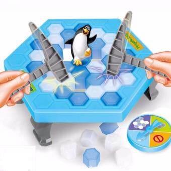 Morestech เกมทุบน้ำแข็ง แพนกวินสะเทือน Mini Penguin Trap Toys