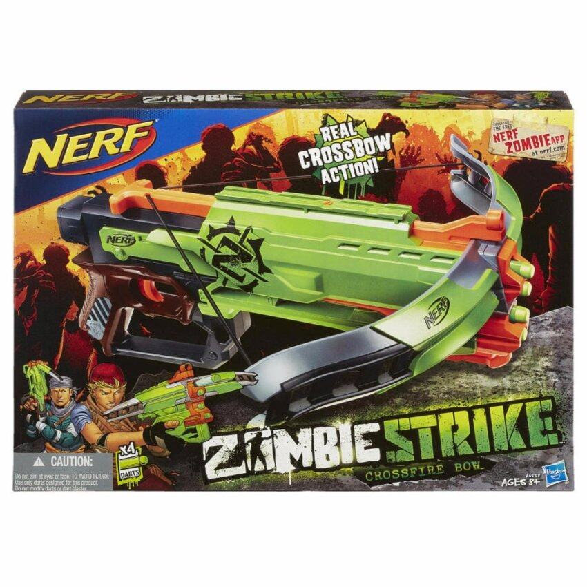 Nerf Zombie Strike Crossfire Bow Blaster ...