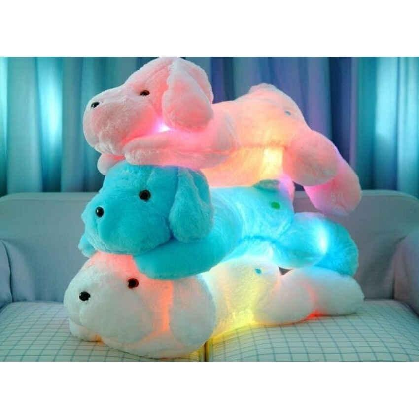 New Year 50Cm Length Creative Night Light Led Lovely Dog Stuffedand Plush Toys Best Gift ...