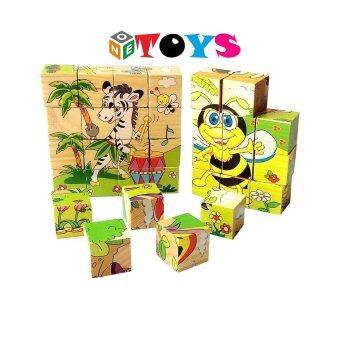 ONE TOYS ของเล่นไม้ บล็อกไม้ลูกเต๋า ต่อได้ 6 ด้าน คละลายจำนวน 1 ชิ้น