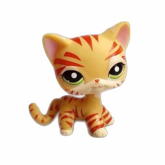 Pet Shop Animal Yellow tiger cat Doll Figure Child Toy FREE SHIPPIGift Figure Doll Christmas birthday girl gift toys - intl