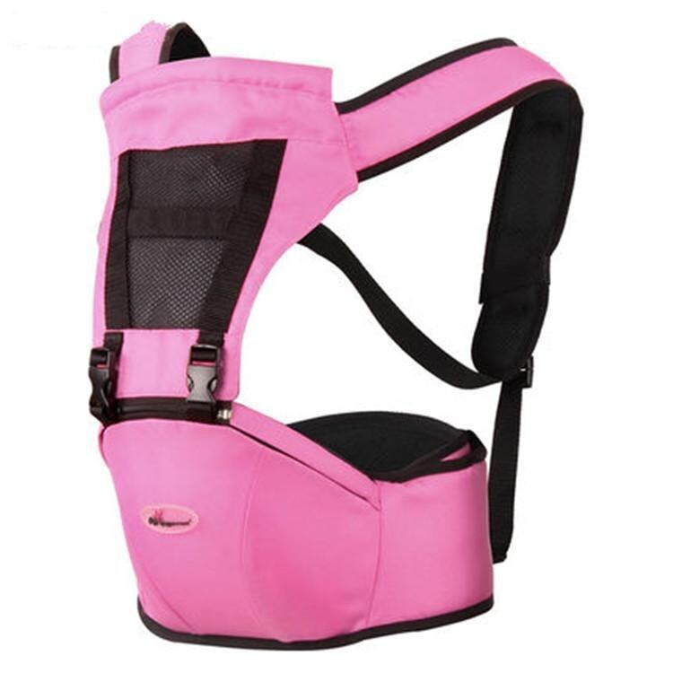 Pink Breathable Multifunctional Double Shoulder Baby Carrier Waist Belt with Waist Stool - intl
