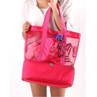 กระเป๋าสัมภาระ Play&Joy-สีชมพู