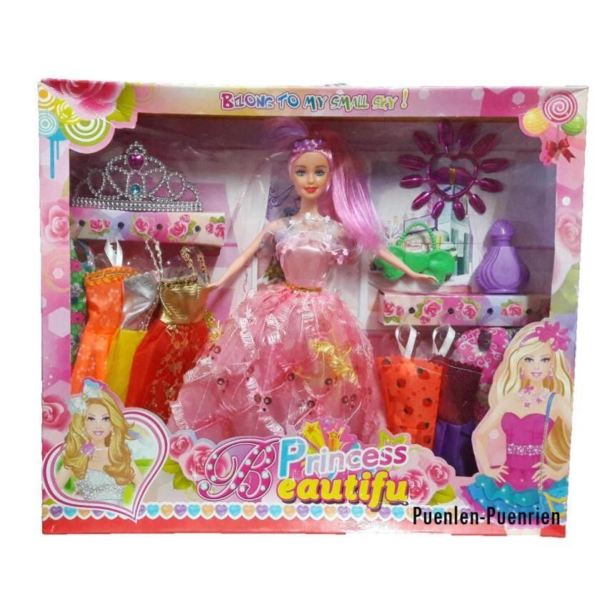P.P. ของเล่น ตุ๊กตาเจ้าหญิงพร้อมชุดเปลี่ยน (คละแบบ) NO.5018B