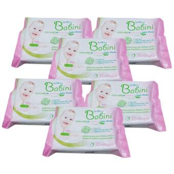 Provamed Babini Baby Wipes Extra Mild & Sensitive 20แผ่น/ห่อ (6 ห่อ)