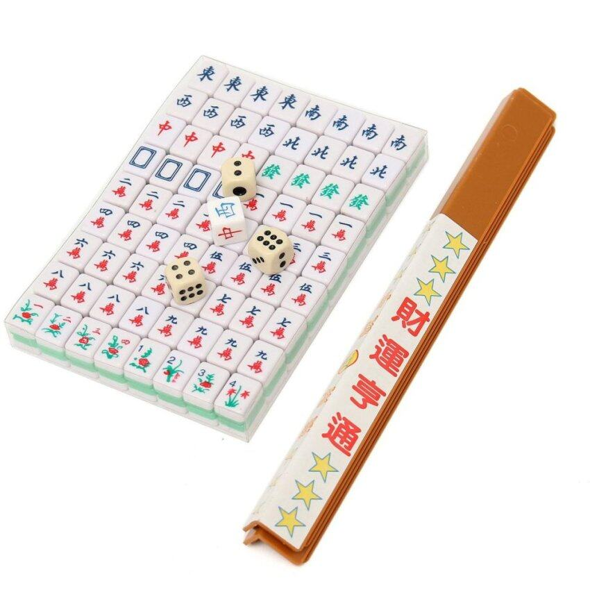 PUZ Mini 144 Mahjong Tile Set Chinese Traditional Game Travel Outdoor Play - intl ...