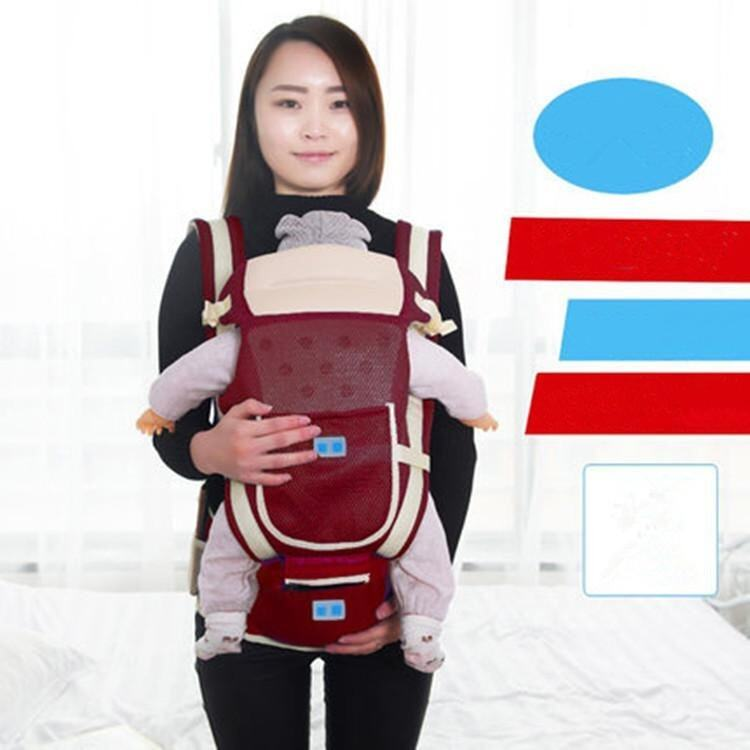 Red Breathable Multifunctional Single and Double Shoulder Baby Carrier Waist Belt with Waist Stool - intl