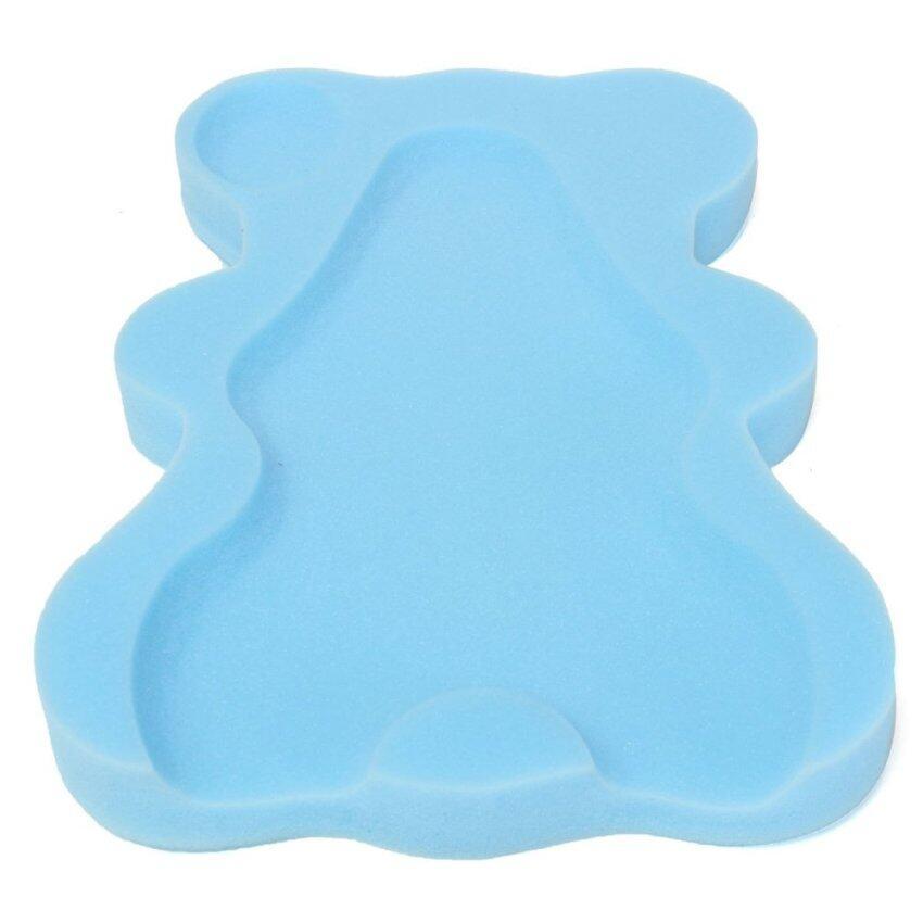 Safe Baby Infant Non Slip Soft Bath Foam Pad Mat Body Support Cushion Sponge Blue - Intl