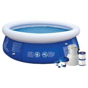 SAKU สระว่ายน้ำพร้อมปั๊ม รุ่น JL010203NG ขนาด 12ฟุต - สีน้ำเงิน