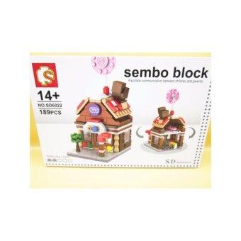 ชุดตัวต่อเลโก้ Sembo block ในชุด ร้าน Candy [189 PCS}
