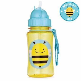 Skip Hop กระติกน้ำพร้อมหลอดดูด Zoo Straw Bottle BeeStyle