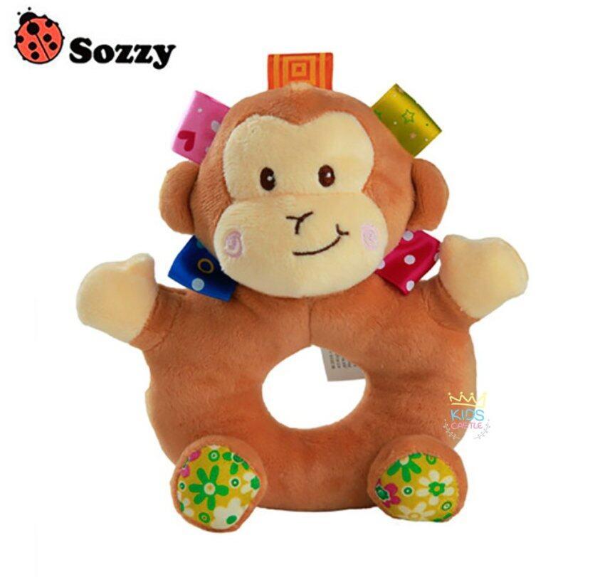 ตุ๊กตาเขย่ามือโดนัทลายน้องลิงน้อย Sozzy