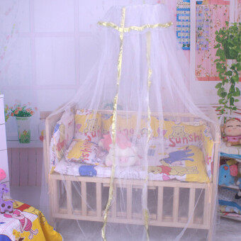 Summer Baby Infant Mosquito Net Toddler Bed Crib Canopy Netting White Babe Dome - Intl
