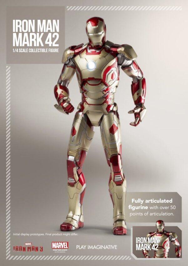 ด่วน SUPER ALLOY ¼ Scale Iron Man Mark XLII Collectible Figure ไอรอนแมนฟิกเกอร์ โมเดล ลดราคา