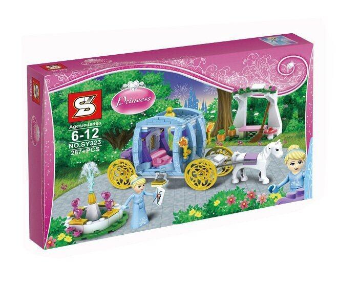 Worktoys ชุดตัวต่อเลโก้ Princess ชุดรถม้าในฝันของเจ้าหญิง No.SY323 (287 ชิ้น) ...