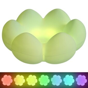 XinNing Kids Night Light Multicolor Silicone Soft Baby LightNursery Lamp Cute Flower USB Rechargeable Children Night Lamp With7 Color Breathing. One Color. One Color Breathing 3 Lighting Modes - intl
