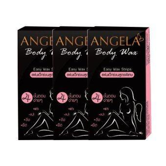 Angela Body Wax Angela Body Wax แผ่นแว๊กซ์กำจัดขน พร้อมแผ่นออยล์ (3 กล่อง x 6 แผ่น)
