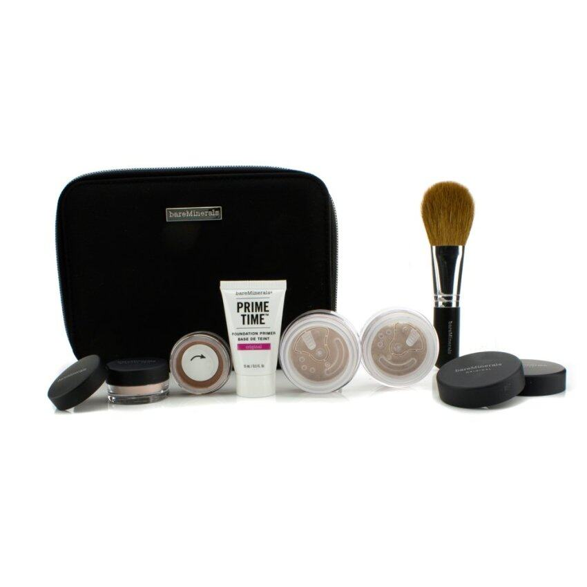 Bare Escentuals BareMinerals Get Started Complexion Kit For Flawless Skin - # Medium Beige 6pcs+1clutch