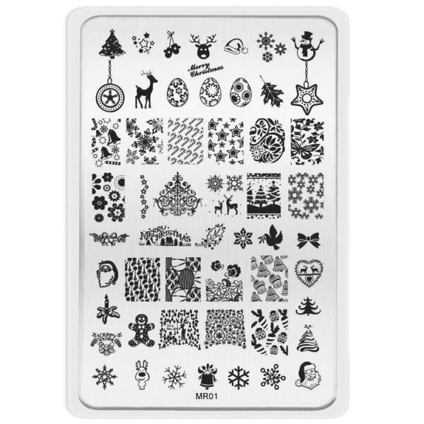 DIY Nail Art Image Stamp Stamping Plates Manicure Template - intl ...