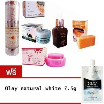 Dr.Q Set Miracle Skin 20 g + Snail Serum + สบู่สมุนไพร + เบต้าไวท์ + Pearl Gold Serum + Sun Screen Free Olay natural white 7.5g. 2
