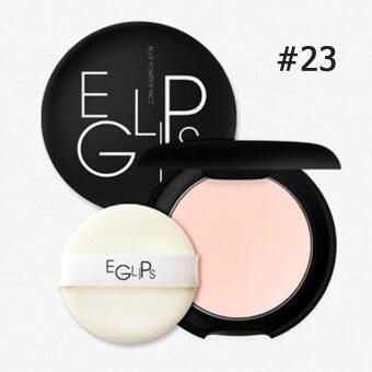 Eglips Blur Powder Pact 9g #23 แป้งผสมรองพื้น เหมาะสำหรับคุณผู้หญิงผิวสองสี (1 ตลับ)