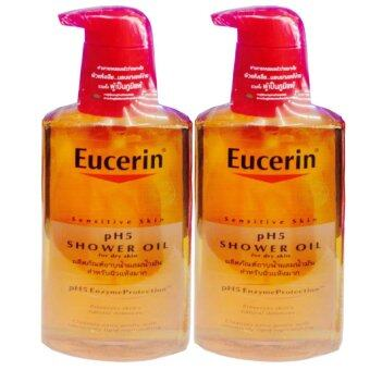 Eucerin Sensitive Skin pH5 Shower Oil For Dry Skin 400 ml (2 ขวด)