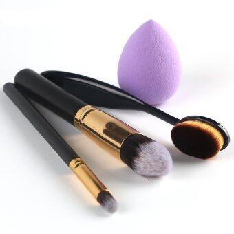 Fashion cheek is red brush eyeshadow brush toothbrush shape brushDrops of water shape puff set - intl