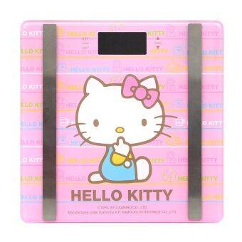 GALAXY เครื่องชั่งน้ำหนักดิจิตอลหน้ากระจก Hello Kitty รุ่น PT-725 สีชมพู