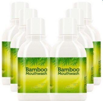Hylife Bamboo mouthwash น้ำยาบ้วนปาก ขจัดคราบหินปูน ชา กาแฟ (300 ml.) 6ขวด