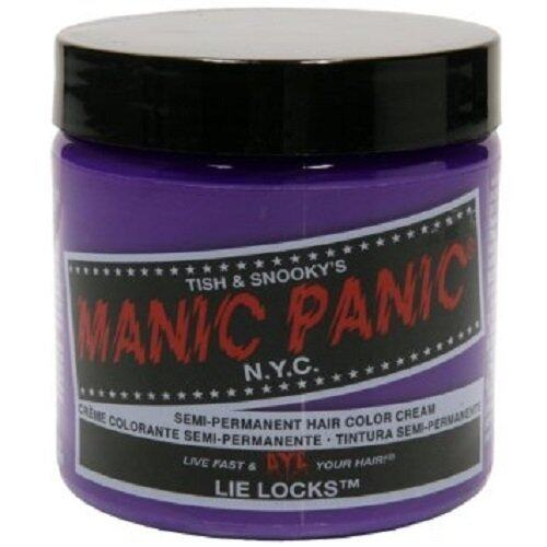 MANIC PANIC CLASSIC CREAM SEMI PERMANENT HAIR COLOR CREAM (LIE LOCKS) 118 ml 1 Jar ...