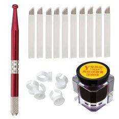 Micro Blading Permanent 3d Makeup Eyebrow Tattoo Needle Red Pen Pigment Kit Set - Intl ราคา 188 บาท(-53%)