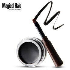 Mini Eyeliner Gel Cream With Brush Makeup Cosmetic Black Waterproof Eye Liner Bk Jeromestore - Intl ราคา 142 บาท(-60%)